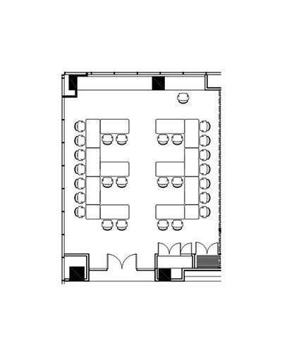 Conference venue Jarrah room floor plan