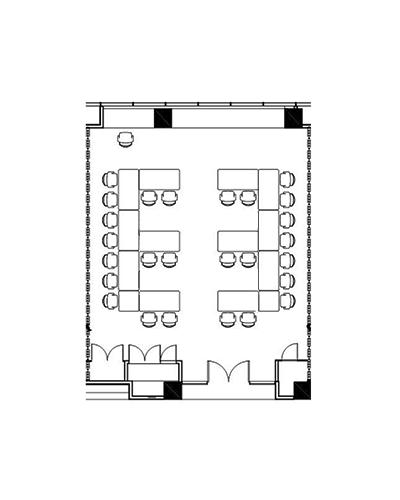 Conference venue Ironbark room floor plan