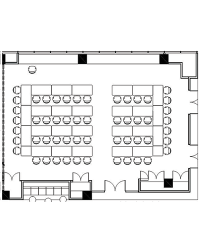 Conference venue Acacia room floor plan