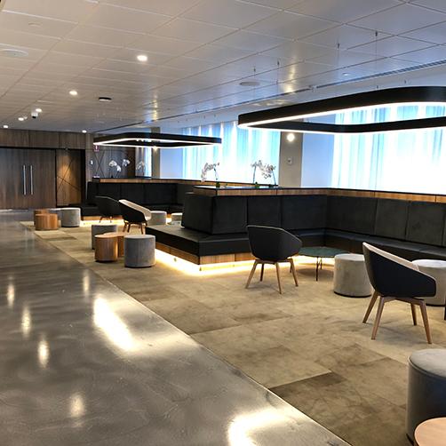 Conference venue lounge area